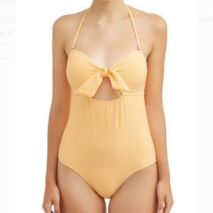 NWT Yellow Gingham Retro Look One Piece